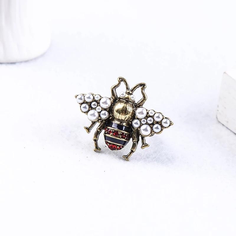 Розкішна брош Бджола червона