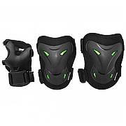 Комплект защитный SportVida SV-KY0004-S Size S Black/Green