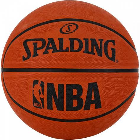 М'яч баскетбольний Spalding NBA Orange Size 7, фото 2