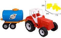 Трактор игрушка молоковоз Тигр скрепер  051