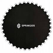Прыжковое полотно (мат) для батута Springos 10FT 305 см (64 пружини) Black