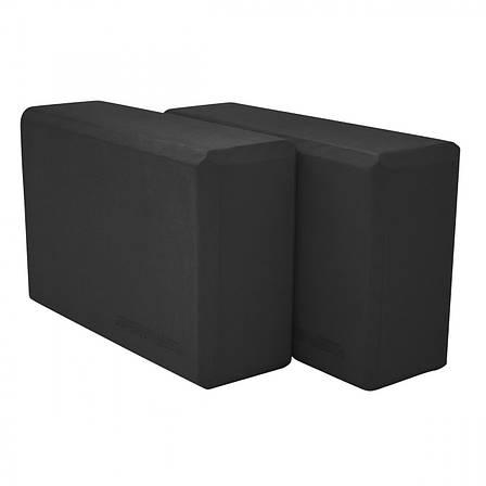 Блок для йоги 2 шт SportVida SV-HK0175-2 Black, фото 2
