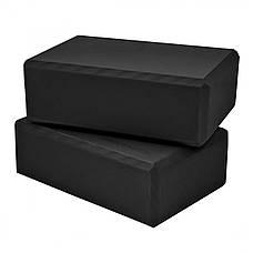 Блок для йоги 2 шт SportVida SV-HK0175-2 Black, фото 3