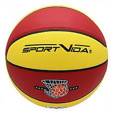 Мяч баскетбольный SportVida SV-WX0021 Size 7, фото 3