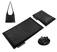 Коврик акупунктурный с подушкой 4FIZJO Eco Mat Аппликатор Кузнецова 68 x 42 см 4FJ0208 Black/Black