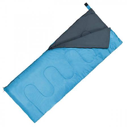 Спальний мішок (спальник) ковдра SportVida SV-CC0060 +2 ...+ 21°C R Sky Blue/Grey, фото 2