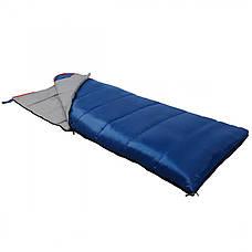 Спальный мешок (спальник) одеяло SportVida SV-CC0066 -3 ...+ 21°C R Blue/Grey, фото 3