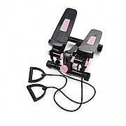 Степпер (мини-степпер) с эспандерами 4FIZJO 4FJ0211 Black/Pink