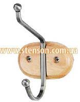 Вешалка настенная деревяная  Stenson 40см 1 крючек  МН- 0276