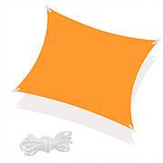 Тент-парус теневой для дома, сада и туризма Springos 5 x 5 м SN1023 Orange