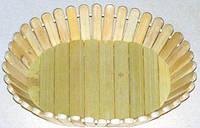 Хлебница бамбук овал (4.7/8.3/12.3см)  В-31