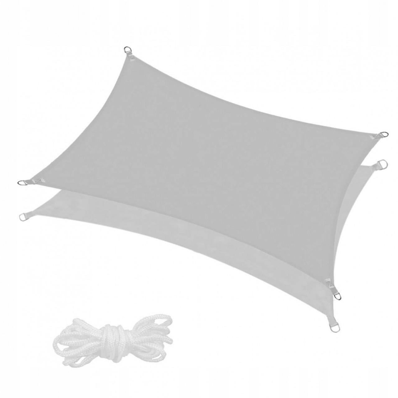 Тент-парус тіньової для дому, саду та туризму Springos 4 x 3 м SN1046 Grey