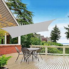 Тент-парус тіньової для дому, саду та туризму Springos 4 x 3 м SN1046 Grey, фото 3