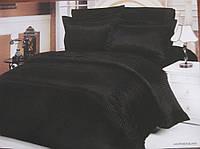 """Постельное белье двуспальное евро Le Vele  Сатин-страйп """"Jakaranda black"""""""