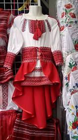 Вишитий костюм для дівчинки р. 146-152
