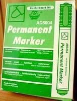Маркер Перманентный толстт. зеленый 8004 (12)