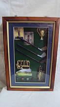 Ключница настенная деревянная «Клуб гольфа» размер 30*20*8