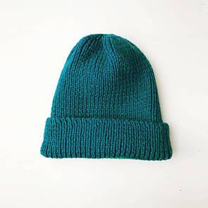 Тепла шапка біні від SOX кольору морської хвилі