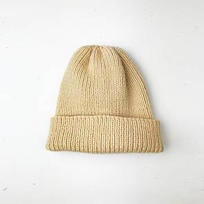 В'язана шапка SOX з вовни і акрилу бежева