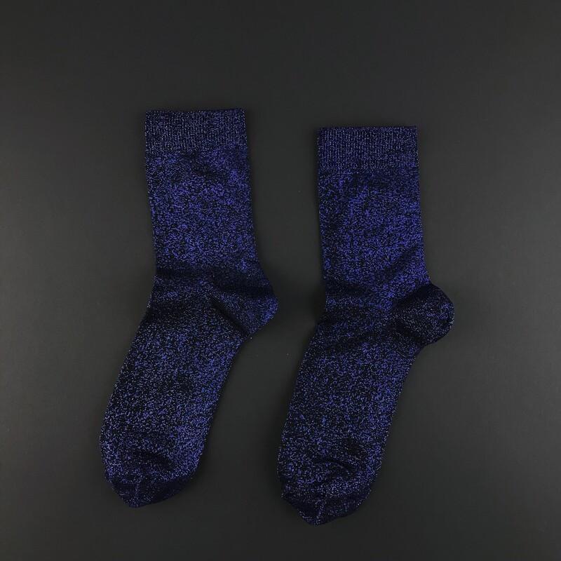 Шкарпетки жіночі люрексовые SOX Deep Blue dust темно-сині