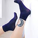 Шкарпетки жіночі люрексовые SOX Deep Blue dust темно-сині, фото 2