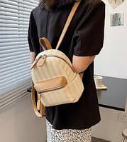 Рюкзак плетений / повсякденний / міський / бежевий / річний / пляжний, фото 1