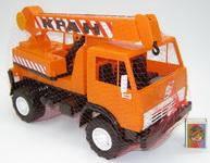 Машинка игрушка Камаз Кран 34х16х18,5 см 860
