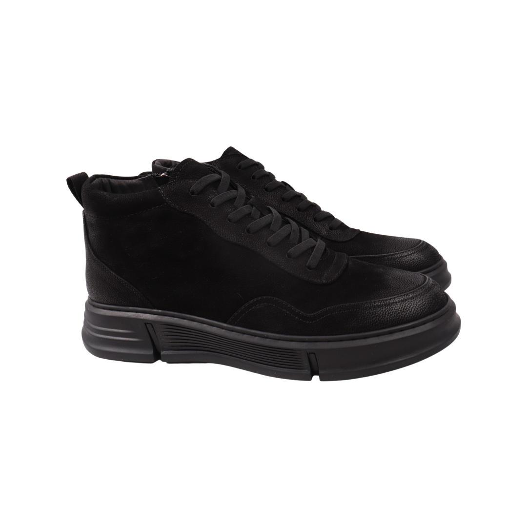 Ботинки мужские Arees черные нубук
