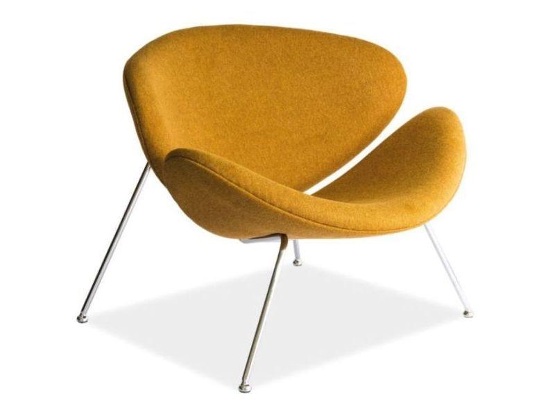 Кресло Signal Major желтое ткань
