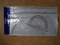 "Линейки 20см  треугол транс  набор ""Соmbo set"" JO 18166/ 8010 / 020А А  (24)"