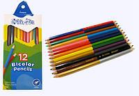 Олівці кольорові 12 кольорів MARCO Colorite 1110-12 двухсторонні