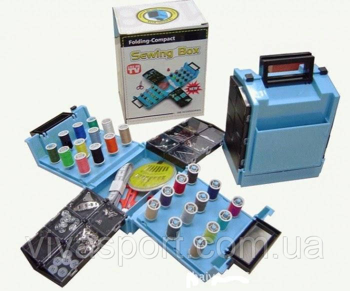 Набор швейных принадлежностей Sewing Box на 138 предметов (швейный набор Севинг Бокс)