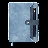 Ежедневник датир. 2022 DEBUT, A5, синий, иск.кожа/поролон