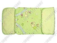 Меховой комплект в детскую коляску овчина - наматрасник и подушка