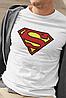 """Футболка чоловіча біла з принтом """"Superman"""", фото 2"""