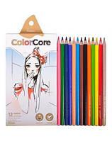 Карандаши цветные 12цв. MARCO ColorCore  3130-12СВ