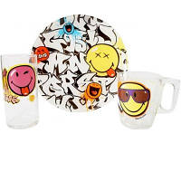 Набор детский Luminarc Disney Smiley World Graffity J1031 (3 предмета)