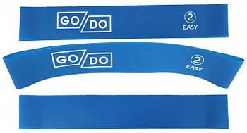 Резинка для фитнеса GoDo №2 нагрузка 8 кг латексная петля лента эспандер