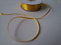 Лента атлас 3 мм желтая