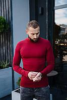 Гольф мужской красного цвета