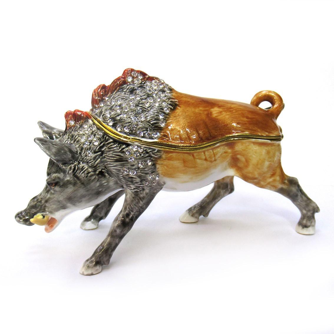 Шкатулка из металла на магните интерьерная Дикий Кабан