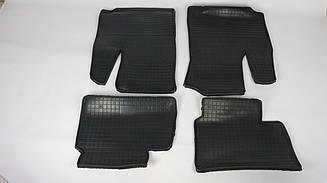 Коврики резиновые на Fiat Doblo 2000-2010 (к-т 4шт, Polytep)