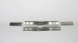 Хром накладки на пороги (к-т: 4шт, на металл, N-N Premium) на Fiat Bravo 2007-...