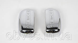 Хром накладки на зеркала Fiat Doblo 2000-2005 (к-т 2шт, пластик, TR)