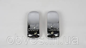 Хром накладки на зеркала Fiat Doblo 2000-2010 (к-т 2шт, середина, пластик, TR)