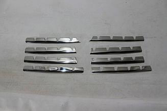 Хром накладки на решетку радиатора Fiat Doblo 2005-2010 (TR)