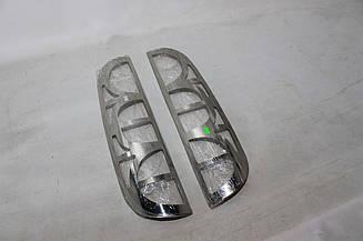 Хром накладки на задние фонари Fiat Doblo 2005-2010 (Omsa)