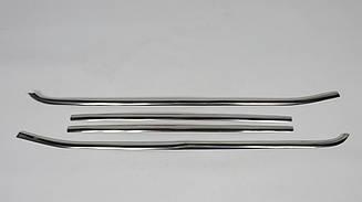 Хром накладки на нижні молдинги стекол Fiat Doblo 2010-2015 (к-т 4шт)