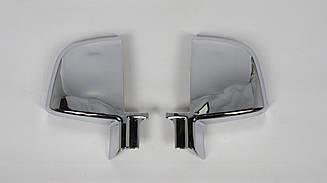 Хром накладки на дзеркала на Fiat Doblo 2010-2015 (к-т 2шт, пластик, TR)