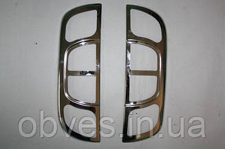 Хром накладки на задние фонари (стопы) на Fiat Fiorino 2008-...